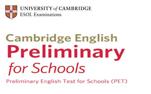 Cambridge English: Preliminary for school (PET)
